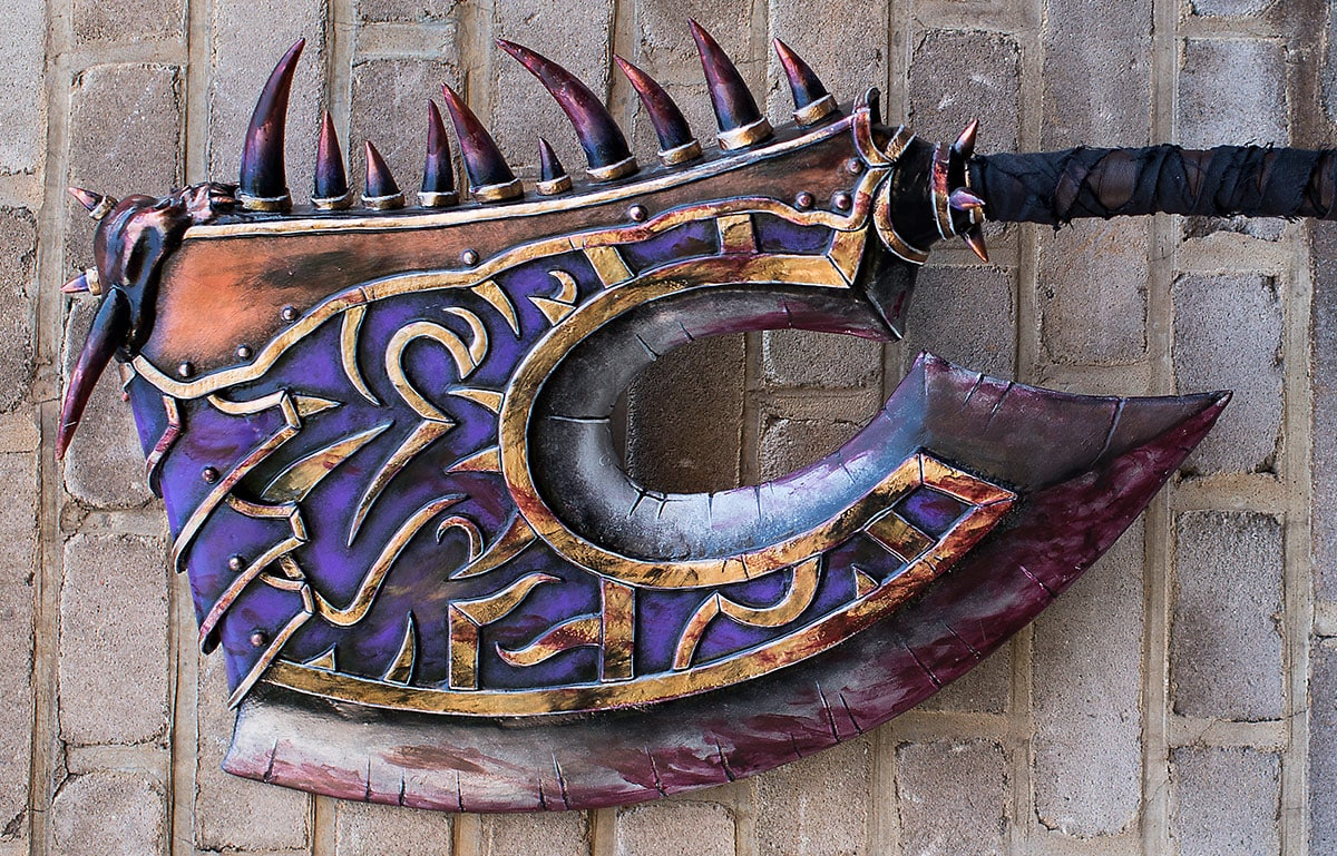 Kamui-Cosplay-Props-Gorehowl-World-of-Warcraft-DIY-Worbla
