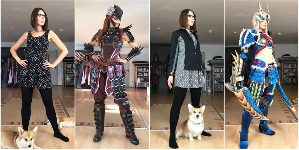 In-and-out-of-costume-comparison-kamui-cosplay-aloy-zinogre