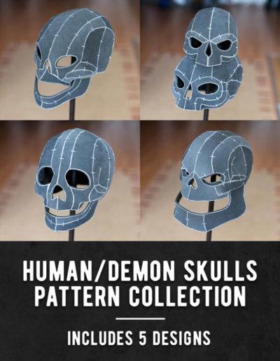 002_Human_Demon_Skulls_Pattern_Collection_by_Kamui